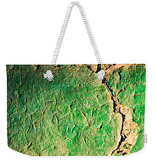Green Flaking Brickwork Weekender Tote Bag