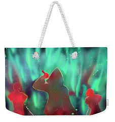 Green Flames Weekender Tote Bag