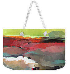 Weekender Tote Bag featuring the painting Green Flash by Michelle Abrams