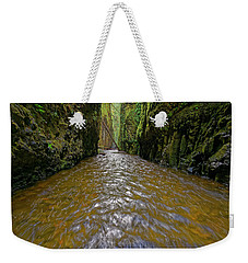 Weekender Tote Bag featuring the photograph Green Flow by Jonathan Davison