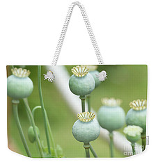 Green Flowers Weekender Tote Bag