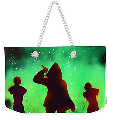 Green Fog And Stars Weekender Tote Bag by Justin Moore