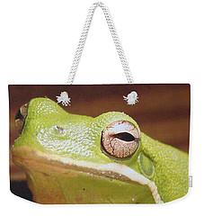 Green Frog Weekender Tote Bag by J R Seymour
