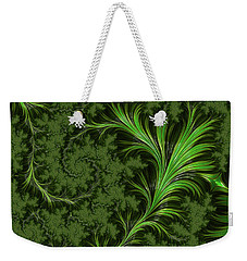 Green Fronds Weekender Tote Bag by Rajiv Chopra