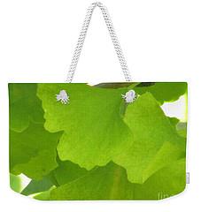 Green Ginkgo Weekender Tote Bag by Kim Tran
