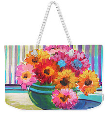 Green Glass Bowl Weekender Tote Bag