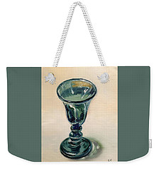 Green Glass Goblet Weekender Tote Bag