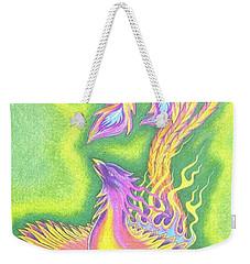 Green Gold Phoenix Weekender Tote Bag