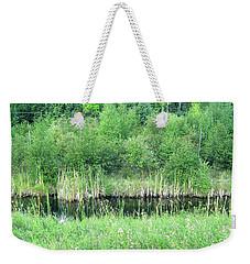 Green Grass Black Water Weekender Tote Bag