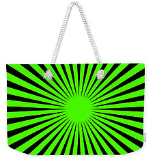 Weekender Tote Bag featuring the digital art Green Harmony by Lucia Sirna