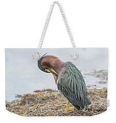 Green Heron 1337 Weekender Tote Bag