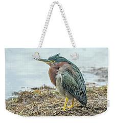 Green Heron 1340 Weekender Tote Bag
