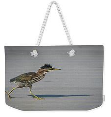 Green Heron On A Mission Weekender Tote Bag