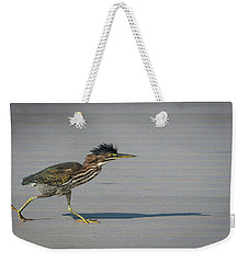 Green Heron On A Mission Weekender Tote Bag