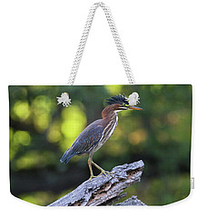 Green Heron Stump Weekender Tote Bag