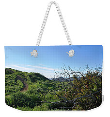 Weekender Tote Bag featuring the photograph Green Hills And Bushes Landscape by Matt Harang