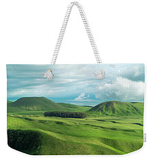 Green Hills On The Big Island Of Hawaii Weekender Tote Bag by Larry Marshall