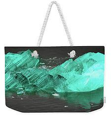 Green Iceberg Weekender Tote Bag