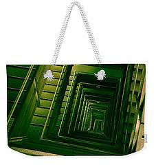 Green Infinity Weekender Tote Bag