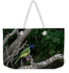 Green Jay Weekender Tote Bag