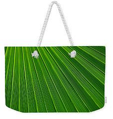 Green Leaf Background Weekender Tote Bag