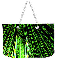 Green Leaf Forest Photo Weekender Tote Bag by Gina O'Brien