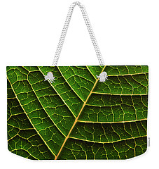 Green Leaf Macro Weekender Tote Bag