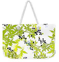 Green Leaf Spring Weekender Tote Bag by Saundra Myles