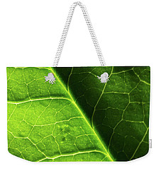 Green Leaf Veins Weekender Tote Bag by Ana V Ramirez