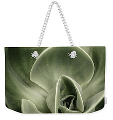 Weekender Tote Bag featuring the photograph Green Leaves Abstract IIi by Marco Oliveira