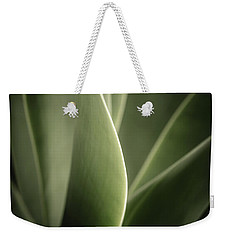 Weekender Tote Bag featuring the photograph Green Leaves Abstract by Marco Oliveira