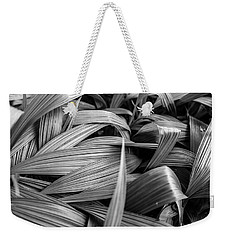 Weekender Tote Bag featuring the photograph Leaves Textured And Background by Jingjits Photography