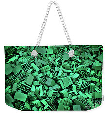 Green Lego Abstract Weekender Tote Bag