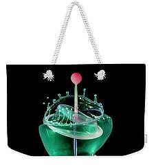 Green Liquid Scuplture Weekender Tote Bag by Jaroslaw Blaminsky