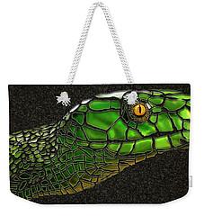 Green Mamba Snake Weekender Tote Bag