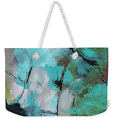 Weekender Tote Bag featuring the painting Blue Man by Suzzanna Frank
