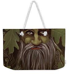 Green Man Painting Weekender Tote Bag