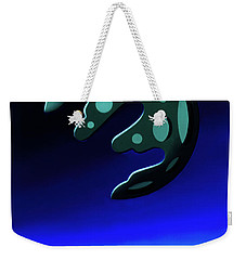 Green Moon Rising Weekender Tote Bag
