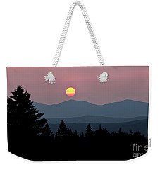 Green Mountain Sunset 2 Weekender Tote Bag