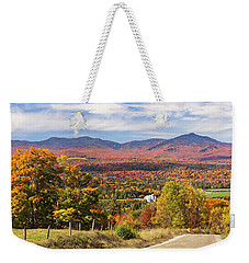 Green Mountains Autumn View Weekender Tote Bag