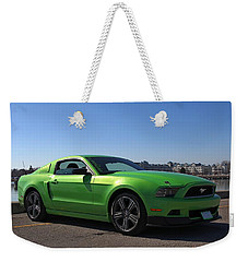 Green Mustang Weekender Tote Bag by Davandra Cribbie