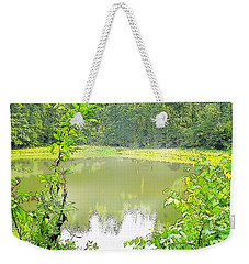 Green On Lake Weekender Tote Bag