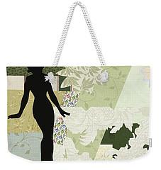 Green Paper Doll Weekender Tote Bag
