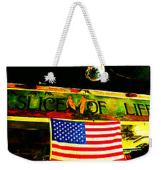 Green Parrot-key West Weekender Tote Bag