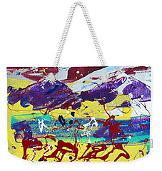 Green Pastures And Purple Mountains Weekender Tote Bag by J R Seymour