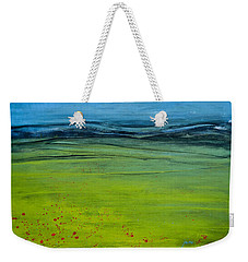 Green Pastures Weekender Tote Bag by Jani Freimann