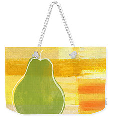Green Pear- Art By Linda Woods Weekender Tote Bag by Linda Woods