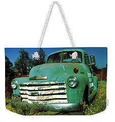 Green Pickup 1959 - American Car Photo Weekender Tote Bag by Art America Gallery Peter Potter
