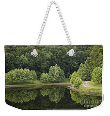 Green Reflections Weekender Tote Bag by Andrea Silies