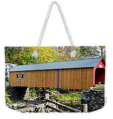 Green River Covered Bridge - Southern Vermont Weekender Tote Bag by Joseph Hendrix